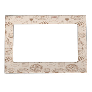 Food Pattern 3 Magnetic Picture Frame
