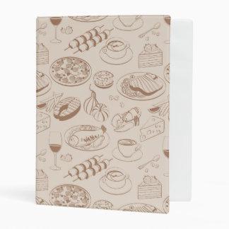 Food Pattern 3 Mini Binder