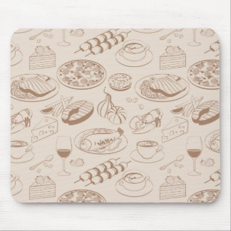 Food Pattern 3 Mouse Pad
