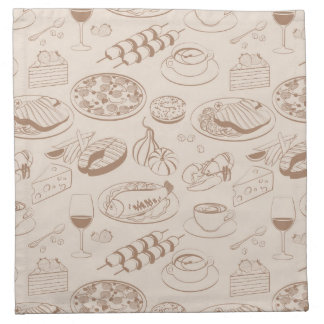 Food Pattern 3 Napkin