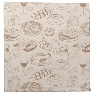 Food Pattern 3 Printed Napkin