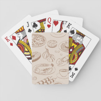 Food Pattern 3 Playing Cards