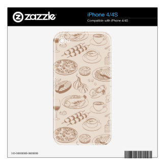 Food Pattern 3 Skin For iPhone 4