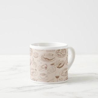 Food Pattern 3 6 Oz Ceramic Espresso Cup