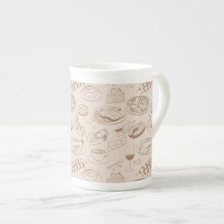Food Pattern 3 Tea Cup