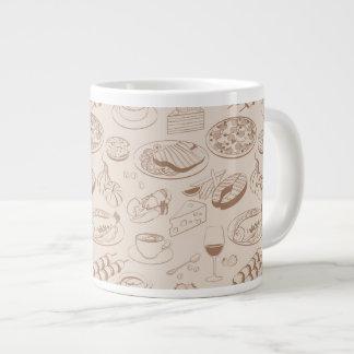 Food Pattern 3 20 Oz Large Ceramic Coffee Mug