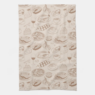 Food Pattern 3 Towels