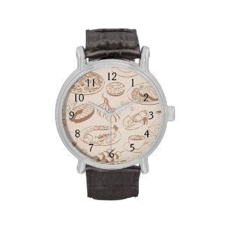 Food Pattern 3 Wristwatch