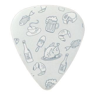Food Pattern Acetal Guitar Pick