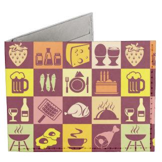 Food Pattern Billfold Wallet