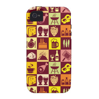 Food Pattern Case-Mate iPhone 4 Covers