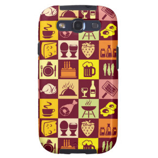 Food Pattern Galaxy S3 Cases