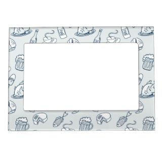 Food Pattern Magnetic Frame