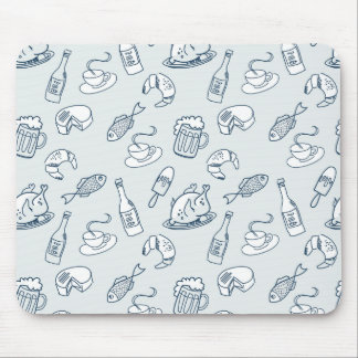 Food Pattern Mouse Pad