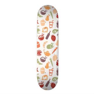 Food Pattern Skateboard