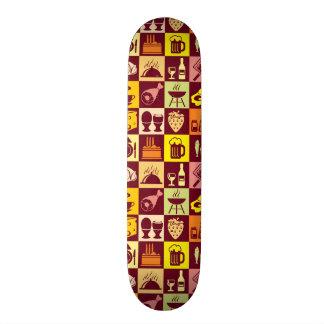 Food Pattern Skateboard Deck