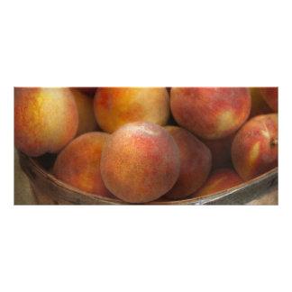 Food - Peaches - Just Peachy Full Color Rack Card