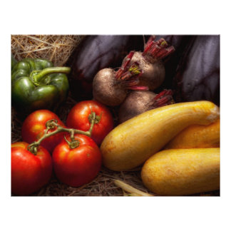 """Food - Peppers, Tomatoes, Squash and Turnips 8.5"""" X 11"""" Flyer"""