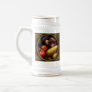 Food - Peppers, Tomatoes, Squash and Turnips Beer Stein