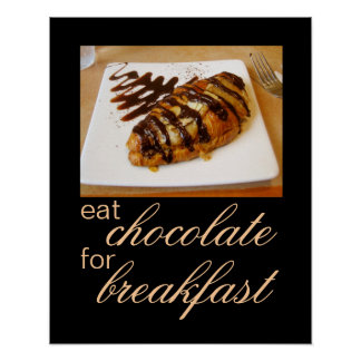 food photography poster chocolate kitchen wall art