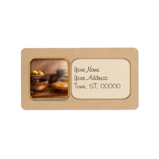 Food - Pie - Mama's peach pie Address Label