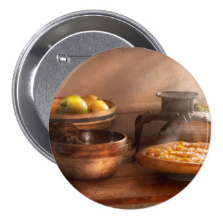 Food - Pie - Mama's peach pie Pinback Button