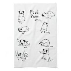 Food Pugs Hand Towels