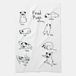 Food Pugs Kitchen Towel