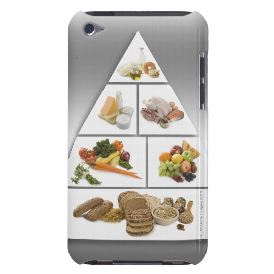 Food pyramid iPod touch case
