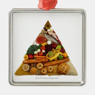 Food Pyramid Metal Ornament