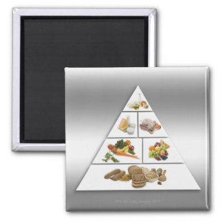 Food pyramid refrigerator magnet