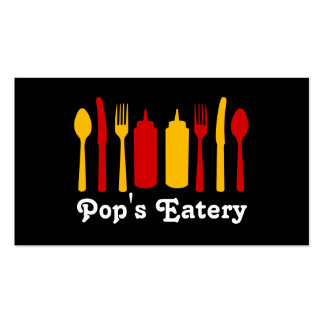 Food Restaurant Diner Eatery Catering Business Card