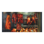 Food - Roast meat for sale Photo Greeting Card