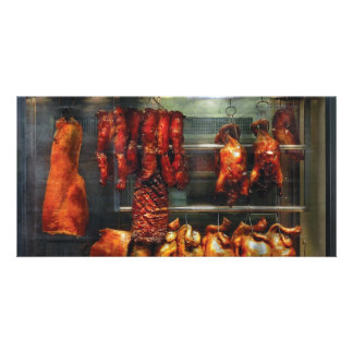 Food - Roast meat for sale Photo Card