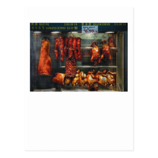 Food - Roast meat for sale Post Cards