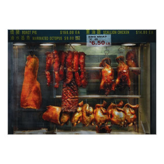 Food - Roast meat for sale Poster