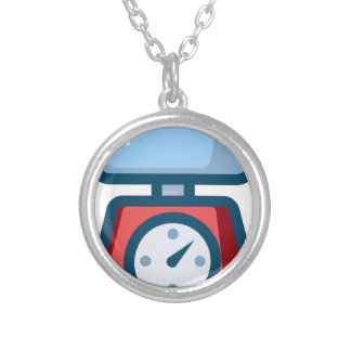 Food Scale Silver Plated Necklace