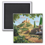 Food Scene Cheese and Garlic 2 Inch Square Magnet