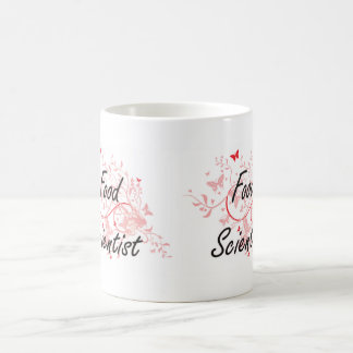 Food Scientist Artistic Job Design with Butterflie Coffee Mug