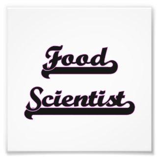 Food Scientist Classic Job Design Photo Print