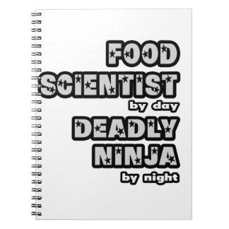 Food Scientist .. Deadly Ninja Spiral Note Books