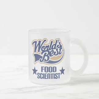 Food Scientist Gift (Worlds Best) Frosted Glass Coffee Mug