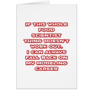 Food Scientist Humor ... Modeling Career Card
