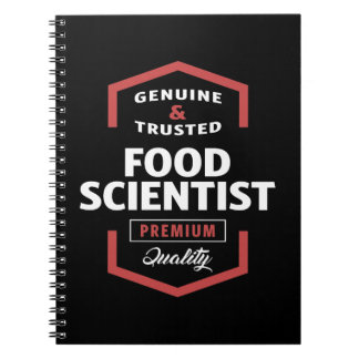 Food Scientist Logo Gift Ideas Notebook