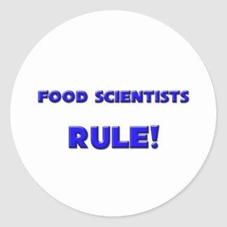 Food Scientists Rule! Classic Round Sticker