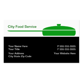 Food Service Business Cards