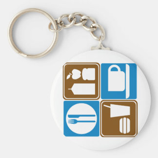 Food Services Highway Signs Collection Keychains