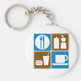 Food Services Highway Signs Collection Keychain