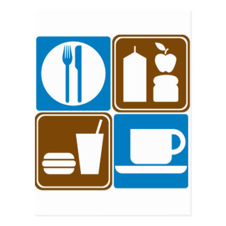 Food Services Highway Signs Collection Postcard