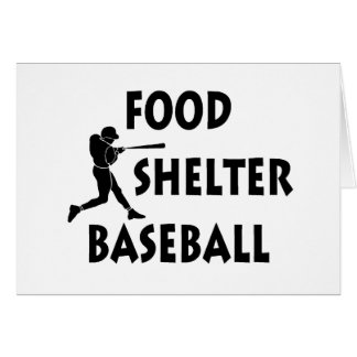 Food Shelter Baseball Card